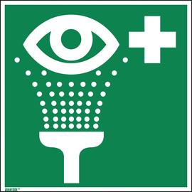 Hinweisschild Augenspüleinrichtung ISO 7010 200x200mm PVC Produktbild