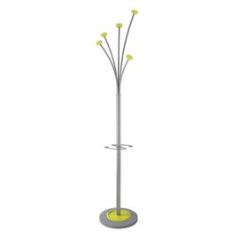 ALBA Garderobenständer Festy 9402855 185cm 5Haken Stahl si/gn Produktbild