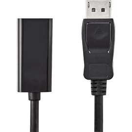 Nedis HDMI-Kabel CCGP37150BK02 DisplayPort 0,2m sw Produktbild