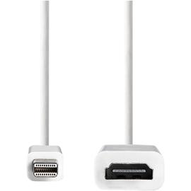 Nedis HDMI-Kabel CCGB37650WT02 Stecker-Buchse 0,2m ws Produktbild