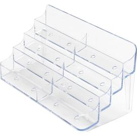 Deflecto Visitenkartenhalter 70801 4Fächer 8 Ablagen glasklar Produktbild
