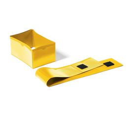DURABLE Palettenfußbanderole 172404 145x75mm gelb 50 St./Pack. (PACK=50 STÜCK) Produktbild