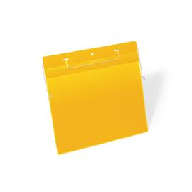 DURABLE Kennzeichnungstasche 175404 Bügel A4 quer ge 50 St./Pa (PACK=50 STÜCK) Produktbild
