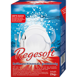 REGESOFT Spülmaschinensalz 55120 grob 2kg (PACK=2 KILOGRAMM) Produktbild