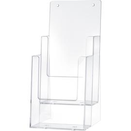 helit Prospekthalter H2351502 1/3 DIN A4 2Fächer PS glasklar Produktbild