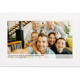 DENVER Digitaler Bilderrahmen PFF-1010WHITE WiFi weiß Produktbild