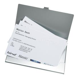 Alassio Visitenkartenetui 334 f. 10 Karten matt silber Produktbild