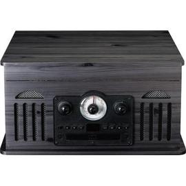 Lenco Plattenspieler TCD-2600 BK Radio Kassette CD BT sw Produktbild