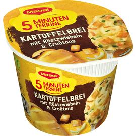 Maggi Gericht 5 Minuten Terrine Kartoffelbrei Röstzw. Croutons 8St. (PACK=8 STÜCK) Produktbild