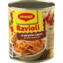 Maggi Fertiggericht Ravioli in pikanter Sauce 800g 6St. (PACK=6 STÜCK) Produktbild