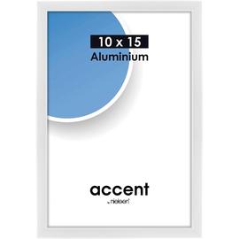 Nielsen Bilderrahmen Accent 51239 Aluminium 10x15cm weiß glanz Produktbild
