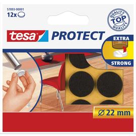 tesa Filzgleiter Protect 57893-00001 22mm braun 12 St./Pack. (PACK=12 STÜCK) Produktbild