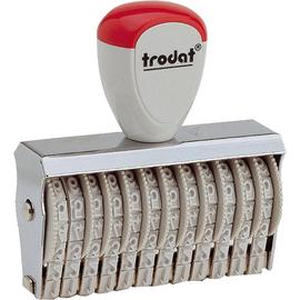 trodat Ziffernbandstempel 54862 12stellig 4mm grau/rot Produktbild
