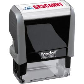 trodat Textstempel Printy 4912 128725 GESCANNT 47x18mm blau/rot Produktbild