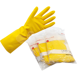 Vileda Gummihandschuh 25616 M Naturlatex gelb 2 St./Pack. (PACK=2 STÜCK) Produktbild
