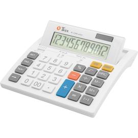 TWEN Tischrechner W1200 solar 569 12Zeichen Solar/Batterie weiß Produktbild