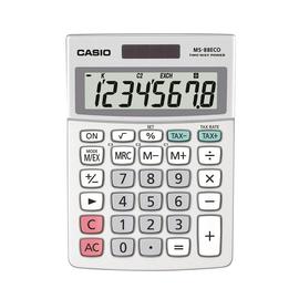 CASIO Tischrechner MS-88ECO-W-EH 10x14cm 8stellig silbergrau Produktbild
