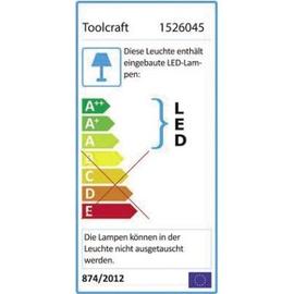 TOOLCRAFT LED-Lupenleuchte 5Zoll 1526045 mit Klemmhalterung 127 mm Produktbild