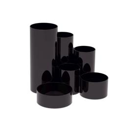 MAUL Stifteköcher MAULdeskbox 4115590 rund 6Fächer Kunststoff sw Produktbild