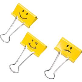 RAPESCO FoldbackkLammer Emoji RP1351 19mm gelb (PACK=20 STÜCK) Produktbild