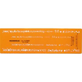 RUMOLD Schriftschablone 89200 Fineliner Schrifthöhe 3,5/5mm or Produktbild