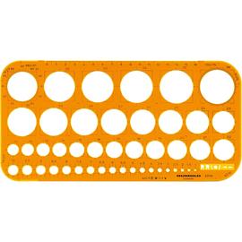 RUMOLD Kreisschablone 2010 1-36mm Tuschekante Kunststoff orange Produktbild