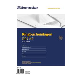 Soennecken Ringbucheinlage 2316 DIN A4 70g liniert 50 Bl./Pack. (PACK=50 STÜCK) Produktbild
