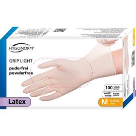 HYGONORM Einweghandschuh GRIP LIGHT 26719 Latex L ws 100 St./Pack. (PACK=100 STÜCK) Produktbild