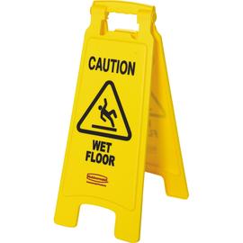 Rubbermaid Warnschild Caution Wet Floor FG611277YEL 2seitig gelb Produktbild