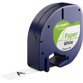 DYMO Schriftbandkassette LetraTag S0721510 12mmx4m sw auf ws (ST=4 METER) Produktbild