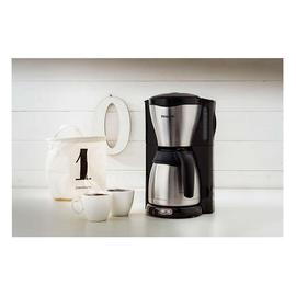 Philips Kaffeemaschine HD7546/20 Thermokanne schwarz/silber Produktbild