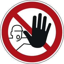 Hinweisschild Zutritt für Unbefugte verboten P06 rund 200mm PVC Produktbild