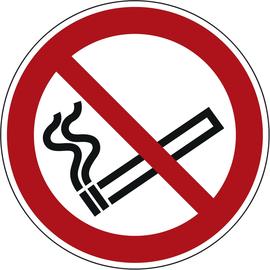 Hinweisschild Rauchen verboten ISO 7010 rund 200mm PVC Produktbild