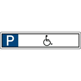 Hinweisschild Parkplatz Rollstuhl 520x110mm Alu Produktbild