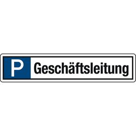 Hinweisschild Parkplatz Geschäftsleitung 520x110mm Alu Produktbild