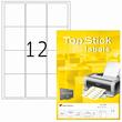 Etiketten Inkjet+Laser+Kopier 63,5x72mm auf A4 Bögen weiß BestStandard (PACK=1200 STÜCK) Produktbild