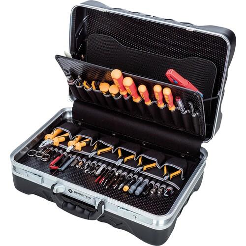BERNSTEIN Werkzeugkoffer Elektriker 6400 82teilig schwarz Produktbild Front View L