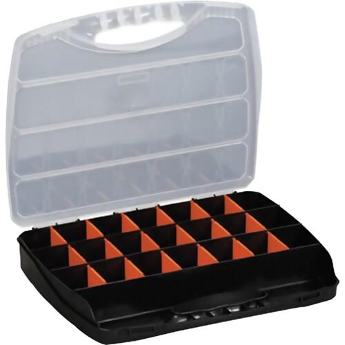 ALUTEC Sortimentskoffer 56000 23Fächer 320x265x50mm schwarz Produktbild Front View L