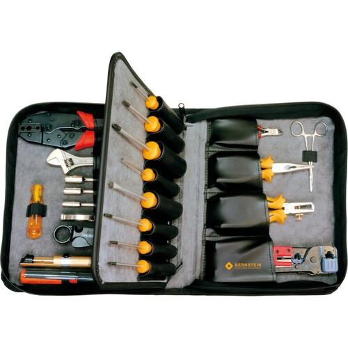 BERNSTEIN Werkzeugtasche Elektriker 2701 NETWORK leer schwarz Produktbild Front View L