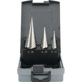 TOOLCRAFT Stufenbohrerset HSS 821395 Zylinderschaft 3teilig Produktbild
