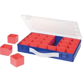 hünersdorff Sortimentskasten 600900 24Fächer 332x232x55mm blau Produktbild