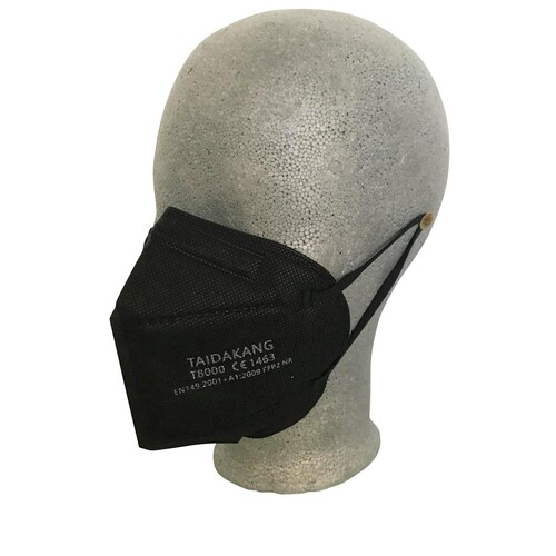 Mund- u. Nasenmaske FFP2 schwarz TAI DA KANG CE1463 / EN149:2001+A1:2009 Produktbild Additional View 1 L