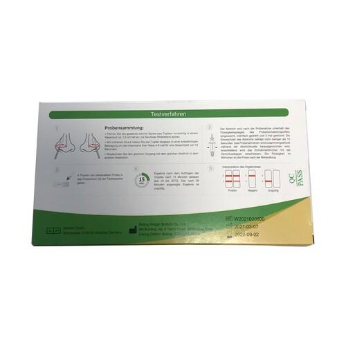 Corona Laien Einzelschnelltest 1er Pack. Beijing Hotgen Biotech 5640-S-057/21 (VPE = 1 STÜCK) Produktbild Additional View 3 L