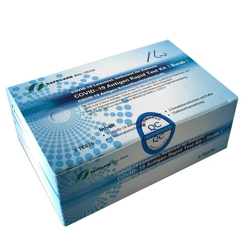 Corona Laien Einzelschnelltest Safecare Biotech 5640-S-168/123 (VPE = 5 STÜCK) Produktbild Additional View 3 L