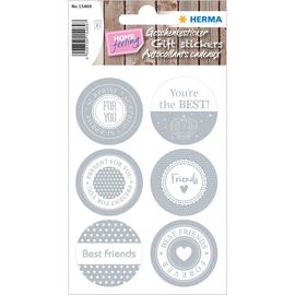HERMA Geschenksticker HOME 15469 Friends sortiert 12 St./Pack. (PACK=12 STÜCK) Produktbild