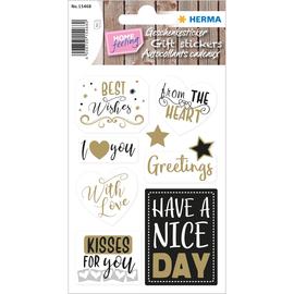 HERMA Geschenksticker HOME 15468 Best Wishes sortiert 14 St./Pack. (PACK=14 STÜCK) Produktbild