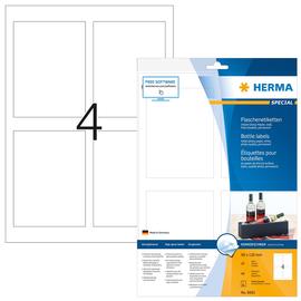 HERMA Flaschenetikett 8882 90x120mm weiß  40 St./Pack. (PACK=40 STÜCK) Produktbild