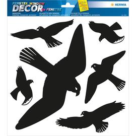 HERMA Fensterbild Warnvögel 5999 30x30cm schwarz 6 St./Pack. (PACK=6 STÜCK) Produktbild