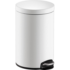 Tretabfallbehälter Design Classic 12l Metall weiß Helit H2403505 Produktbild