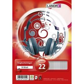 Ringbucheinlagen gelocht A5 Lineatur 5 kariert 70g weiß holzfrei Landré 100050496 (PACK=50 BLATT) Produktbild